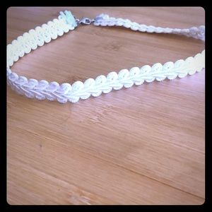 Homemade braided style choker necklace